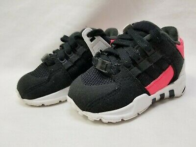 best authentic 837e0 cd81c ADIDAS EQUIPMENT SUPPORT Infant Toddler Baby Black/Pink Size 4K BB2958
