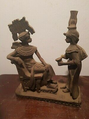 Rare Antique Ancient Egyptian Statue Famous King Tutankhamun & Wife 1332-1323BC