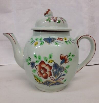 Adams Calyx Ware Hand Painted Floral Teapot England Vintage