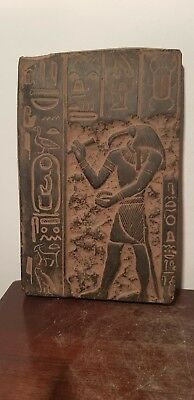 Rare Antique Ancient Egyptian Stela God Toth Ibis God Writing Science1680-1590BC