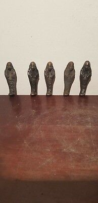 Rare Antique Ancient Egyptian 5 Bronze Ushabtis Work Servant minions 1670-1580BC