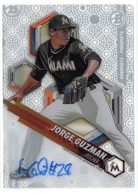 Jorge Guzman 2018 Bowman High Tek #PHTJG /  Marlins