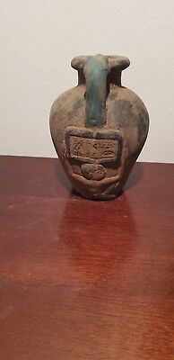 Rare Antique Ancient Egyptian Magic Vase Magic word more gold & money1750-1640BC