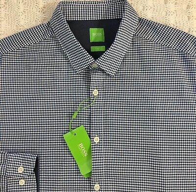 072d1cc58 HUGO BOSS MENS Blue Polo Shirt Green Label XL - $29.99 | PicClick