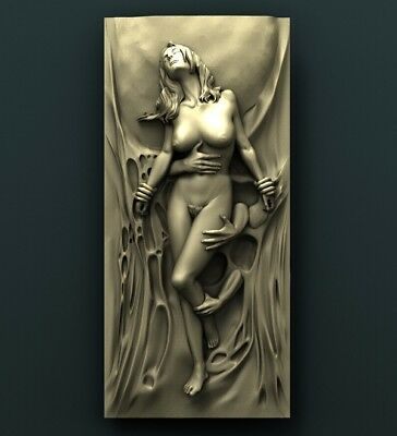 3d STL Model Relief for CNC Router Aspire _ (0480) Woman
