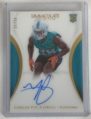 2018 Panini Immaculate MINKAH FITZPATRICK RC ON-CARD AUTO /99 DOLPHINS ALABAMA