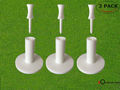 Golf Rubber Tees Holder Tee Range Driving Practice Mat 3 Pcs With 6 Castle Tees