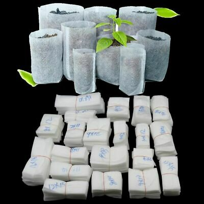 Biodegradable Non-woven Nursery Bags Plant Grow Seedling Pots Aeration Planting