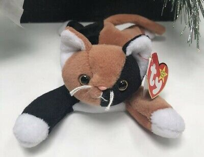 * TY BEANIE Baby * Chip The Cat Rare Authentic Vintage *Creasing On Tag,  See Pic