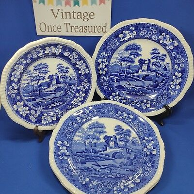 Copeland Spode Spodes Tower - 3 x Dinner Plates + 1 x Lunch Plate  Antique 1890s