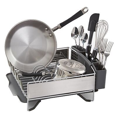 KitchenAid Compact Stainless Steel Dish Drying Rack Countertop