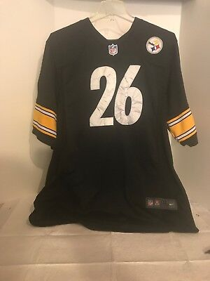 Le Veon Bell 26 Pittsburgh Steelers Black Jersey Men s Medium Nike On Field  NFL 15022e777