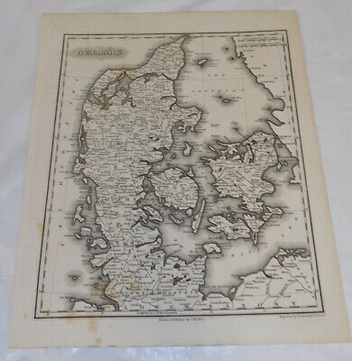 c1834 Antique Map///DENMARK