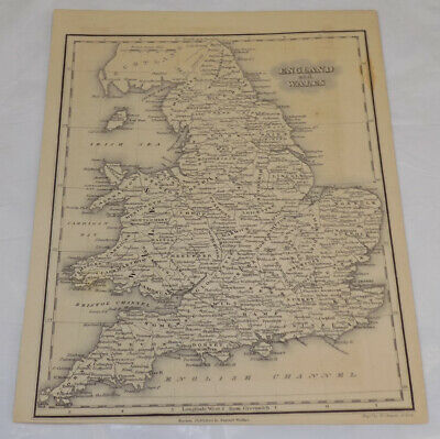 c1834 Antique Map///ENGLAND AND WALES
