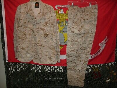 USMC MARPAT Desert Uniform Pants with free Combat Shirt  size Large-Short