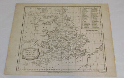 1807 Antique Map///ENGLAND AND WALES