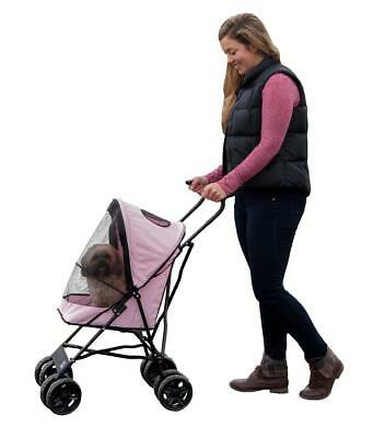 Pet Gear Travel Lite Pet Stroller for Cats and Dogs up to 15-pounds, Pink NEW