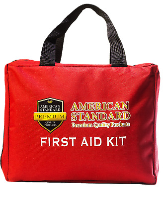 First Aid Kit Emergency Medical & Survival Bag OSHA Compliant FDA Approved 224PC