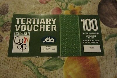 $100.00 Tertiary Co-op Bookshop Voucher to use for books and educational items.