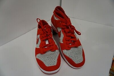 online store f2a6c 9f482 Nike Dunk Low Flyknit Men s (size 11) Red White and Grey 917746-600