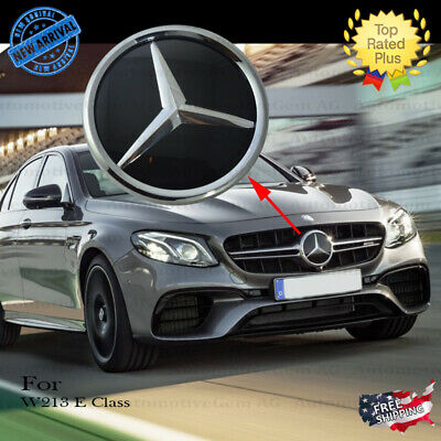 MERCEDES W213 CHROME Front Grill Star Emblem Crystal Glass Style AMG  Modified