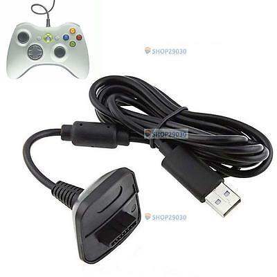 USB Charger Cable Lead For Microsoft Xbox 360 Wireless Controller Gamepad Hot BE