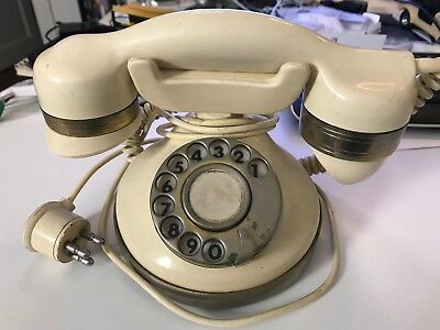 telcer vintage telefono a disco gold plated 18k