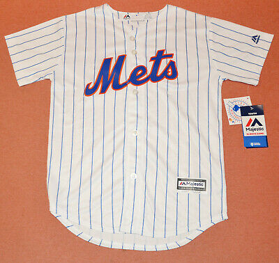 Youth New York Mets MLB Majestic Cool Base white jersey size M (10-12yr)