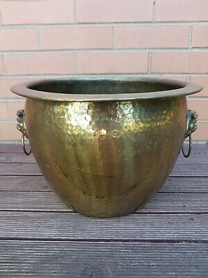 Copper Vintage Detailed & Hammered Pot Home Garden 26cm Made in Hong Kong.