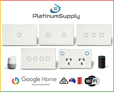 WiFi Touch Switch Google Alexa Smart Home Automation Light LED Power Point GPO