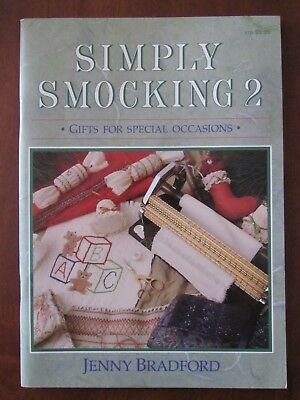 SIMPLY SMOCKING 2 by JENNY BRADFORD GIFTS FOR SPECIAL OCCASIONS SC EXC 1989