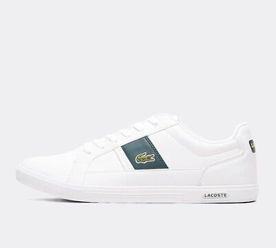 Mens Lacoste Europa 118 White/Green Trainers (SF33) RRP £69.99