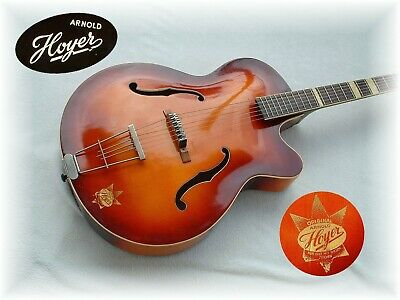 Arnold HOYER Schlaggitarre GERMANY 50/60 ViNTAGE Hollowbody JAZZ ARCHTOP GUiTAR
