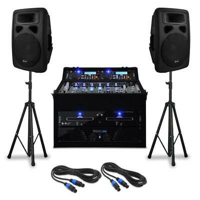 Dj Pa Rack Anlage Doppel-Cd-Player Mixer Box Set 1000W
