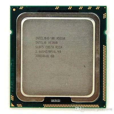 Pair 2x INTEL XEON X5550 2.66GHz 8M Quad Core SLBF5 Processor LGA1366