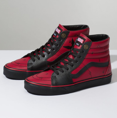 95b7b3e5fedb MENS VANS SK8-HI Marvel Deadpool Limited Edition Leather Black Multi ...