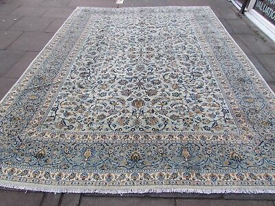 Fine Old Hand Made Traditional Persian Oriental Wool Green Large Carpet 362x267m
