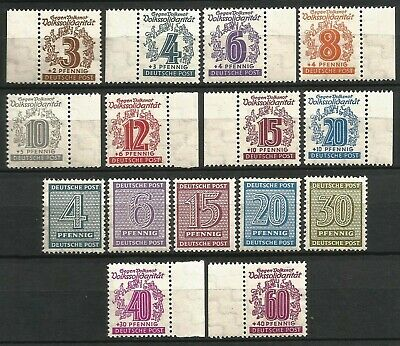 Germany Allied Occupation 1945-1946 mint West and Province Saxony Issues Lot 7