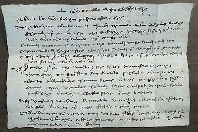 Letter In Latin. Dated 1459. Not Translated. See Photos