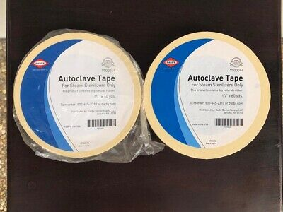 """Darby Brand Autoclave Indicator Tape 3/4"""" TWO 60 Yard Rolls"""