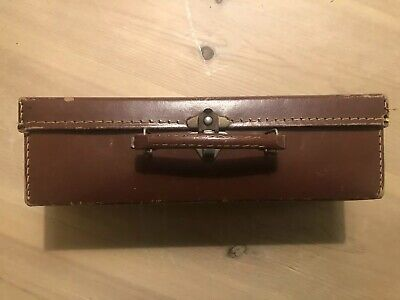 Small Brown Vintage/Antique British Made Suitcase