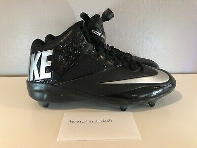 premium selection d87d2 7b149 Nike Mens Lunar Code Pro Mid Football Cleats Black Silver New 579669-002  Size 12
