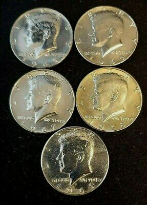 Kennedy Half Dollar Lot 1965-1969 Random Draw (5 Coins) 40% Silver Free Shipping
