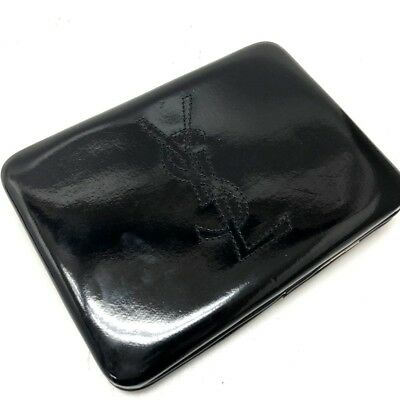 49f4aabb714 AUTHENTIC YVES SAINT LAURENT YSL Clutch Bag Cosmetics Pouch Black Patent  Leather