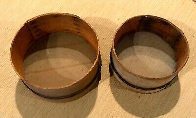 RARE Pair of Antique Primitive Shaker Wood Sifter Sieve Strainer European 1900