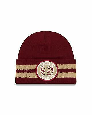 af816ddbb4763d NCAA Florida State Seminoles 2 Striped Remix Cuff Knit Beanie, Maroon, One  Size