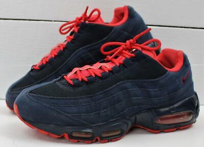 los angeles fc987 aebcc Nike Air Max  95 1995 Mens Navy Blue Red Shoes Sneakers Size 8.5