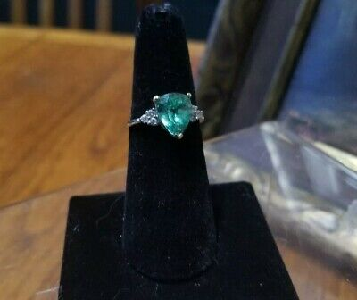 Estate Ring~HUGE Gorgeous Gem~10kt ~Designer LGL~Genuine accent diamonds~Stuns!