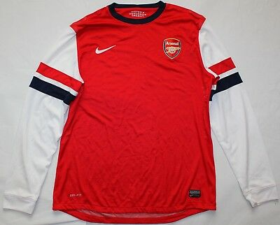 Arsenal Home Player Issue Long Sleeve Shirt - 2012/14 - XL - Nike - Red - Jersey