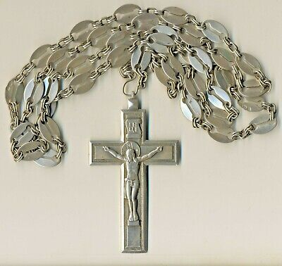 Antique Russian  Imperial   Sterling Silver Icon Cross  Original   (#1144)